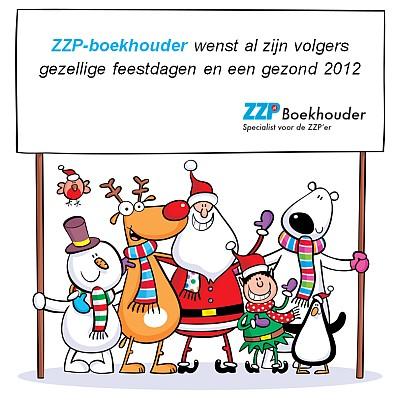 ZZP-boekhouder wenst al zijn volgers gezellige feestdagen en een gezond 2012