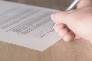 handtekening onder accountantsverklaring voor 'grote' BV